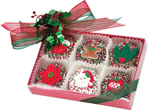 Christmas 6pc Decorated Chocolate Oreo®s