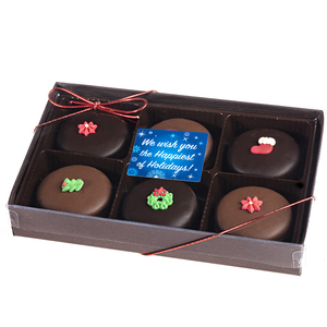 Christmas Decorated Chocolate Oreos 6 Pc Box