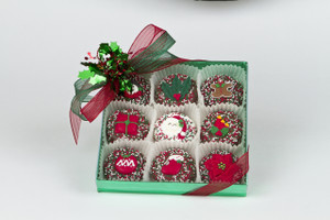 Christmas Decorated Chocolate Oreo 9pc box