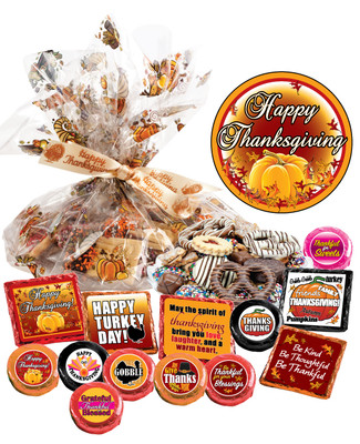 Thanksgiving Cookie Talk Message Platter