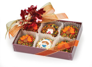 Thanksgiving 6pc Decorated Chocolate Oreo Box
