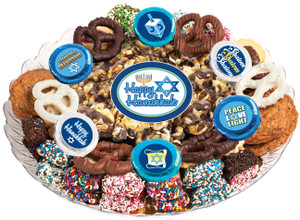 Hanukkah  Caramel Popcorn & Cookie Assortment Platter