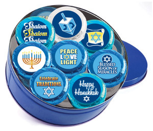 Hanukkah Cookie Talk 16pc Chocolate Oreo Tin