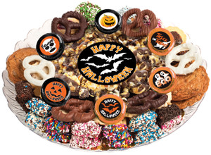 Halloween  Caramel Popcorn & Cookie Assortment Platter