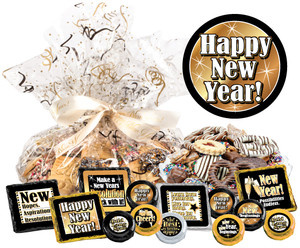 Happy New Year Cookie Talk Message Platter