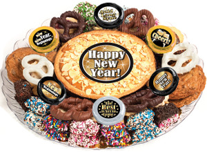 Happy New Year Cookie Pie & Cookie Assortment  Platter