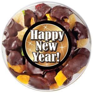Happy New Year Chocolate Dipped Dried Fruit