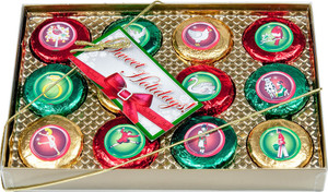 CHRISTMAS  12 DAYS OF CHRISTMAS CHOCOLATE OREOS GIFT BOX