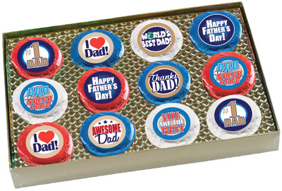 Father's Day Cookie Talk 12pc Chocolate Oreo Box