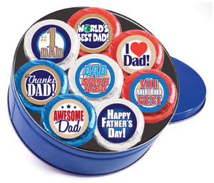 Father's Day Cookie Talk 16pc Chocolate Oreo Tin