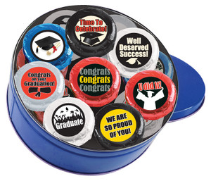 Graduation Cookie Talk 16pc Chocolate Oreo Tin