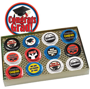 Graduation Cookie Talk 12pc Chocolate Oreo Box