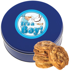 BABY BOY CHOCOLATE CHIP COOKIE TIN