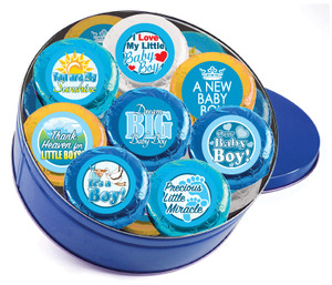 "BABY BOY ""COOKIE TALK"" CHOCOLATE OREO TIN"