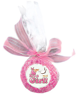 Baby Girl Custom Printed Chocolate Oreo Cookies - Special Order