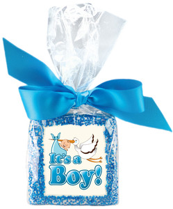 Baby Boy Custom Printed Chocolate Graham - Special Order