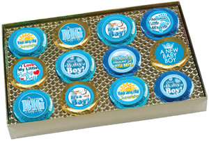 "BABY BOY ""COOKIE TALK"" CHOCOLATE OREO GIFT BOX"