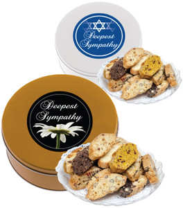 Sympathy/Shiva Assorted Biscotti Tin