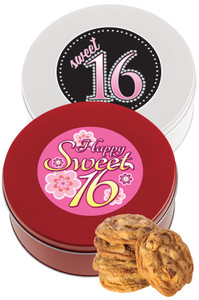 SWEET 16 CHOCOLATE CHIP COOKIE TIN