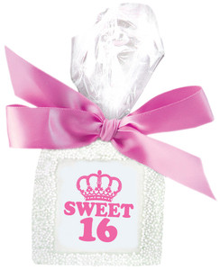 Sweet 16 Custom Printed Chocolate Half Graham