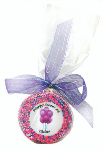 Sweet 16  Custom Printed Chocolate Oreo  - Special Order