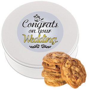 Wedding Chocolate Chip Butter Cookie Tin