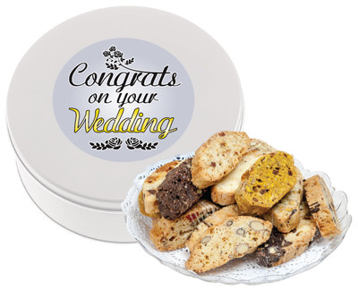 Wedding Biscotti Tin