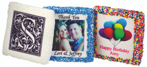 Wedding Custom Print Half Chocolate Grahams