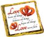 Wedding Cookie Talk Chocolate Graham - Love