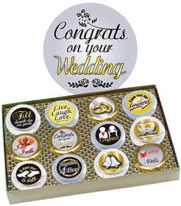 "WEDDING ""COOKIE TALK"" CHOCOLATE OREO GIFT BOX"