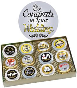 Wedding Cookie Talk 12pc Chocolate Oreo Box