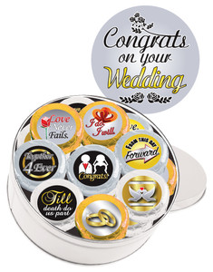 Wedding Cookie Talk 16pc Chocolate Oreo Tin