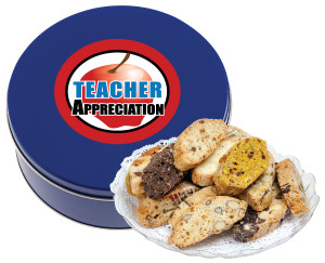 Teacher Appreciation Biscotti Cookie Tin