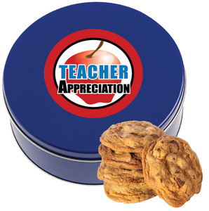 TEACHER APPRECIATION CHOCOLATE CHIP COOKIE TIN