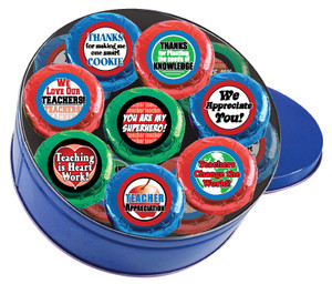Teacher Appreciation Cookie Talk 16pc Chocolate Oreo Tin
