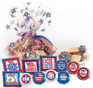 "CELEBRATE AMERICA  ""COOKIE TALK"" MESSAGE PLATTERS"