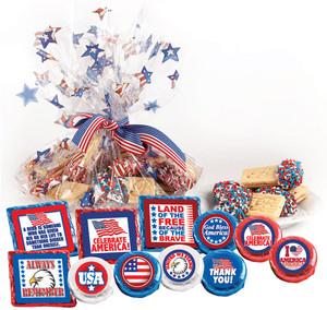 "Celebrate America ""Cookie Talk"" Message Platters"
