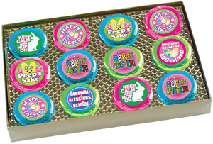 "EASTER/ SPRING  ""COOKIE TALK"" CHOCOLATE OREOS W/ MESSAGES  GIFT BOX"