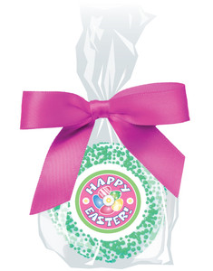 Easter Custom Printed Chocolate Oreo - Pink Ribbon