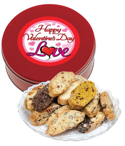 Valentine's Day Biscotti Tin - Traditional