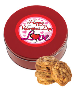 Valentine's Day Chocolate Chip Cookie Tin - Love