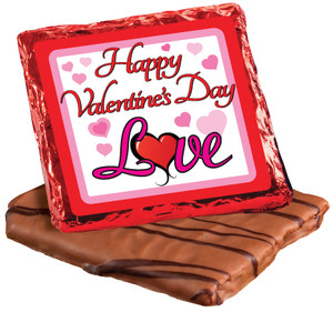 "VALENTINES DAY ""COOKIE TALK"" CHOCOLATE GRAHAMS  w/ MESSAGES"