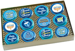 Hanukkah Cookie Talk 12pc Chocolate Oreo Box