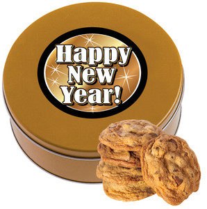 Happy New Year Choolate Chip Cookie Tin