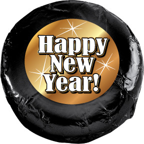 """HAPPY NEW YEAR """"COOKIE TALK"""" CHOCOLATE OREOS W/ MESSAGES"""