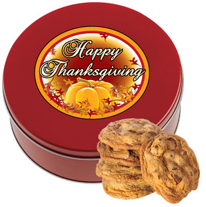 Thanksgiving Chocolate Chip Cookie Tin