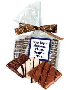 Custom Chocolate Graham Duo In Favor Bag