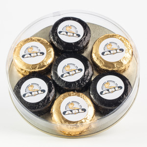 Oreo 7 Pc. Custom Tin - Any Logo, Photo, Text - Gift-Boxed