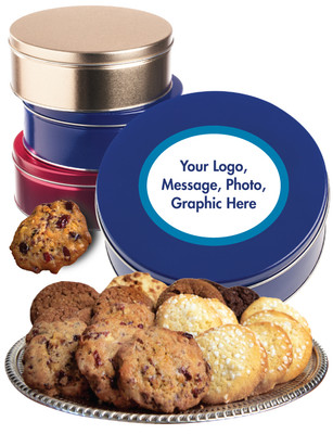 Custom Cookie Assortment Tin - Your Logo, Photo or Text