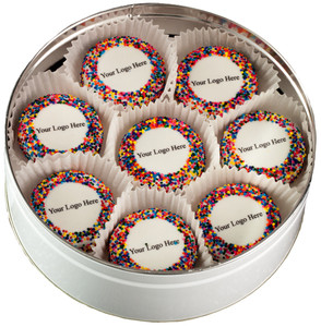 Business Gift - 16pc Custom Printed Oreo Tin